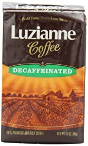 Luzianne Coffee, Decaffeinated, 12-Ounce Bags (Pack of 3)