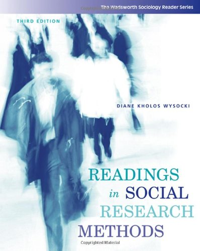 Readings in Social Research Methods (Wadsworth Sociology...