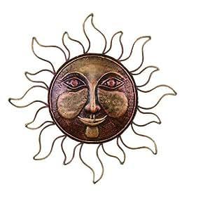 """Sun Sundaes Metallic Brass Metal Wall Art Decor Sculpture 16 """""""