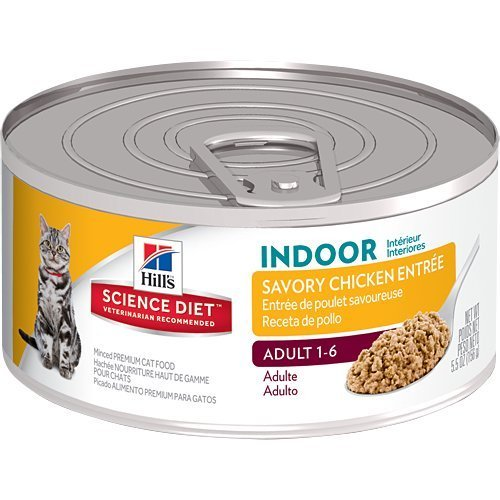 hills-science-diet-adult-indoor-cat-savory-chicken-entree-minced-cat-food-55-ounce-can-24-pack-by-hi