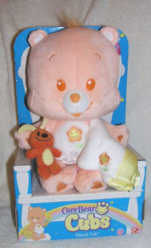 "2005 Care Bear Cubs 12"" Plush Friend Bear Cub With Blanket And Brown Dog front-1034591"