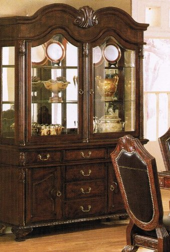 Cheap China Cabinet Buffet Hutch Brown Finish (VF_AZ00-39462×21559)