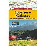 """Bruckmanns Radf�hrer Bodensee-K�nigssee: 16 Tagesetappen mit Karten 1:75.000von """"Thorsten Br�nner"""""""