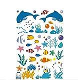 Moolecole Neu Unterwasser Tiere PVC Wandsticker Kinder Schlafzimmer Wandtattoos Wohnzimmer