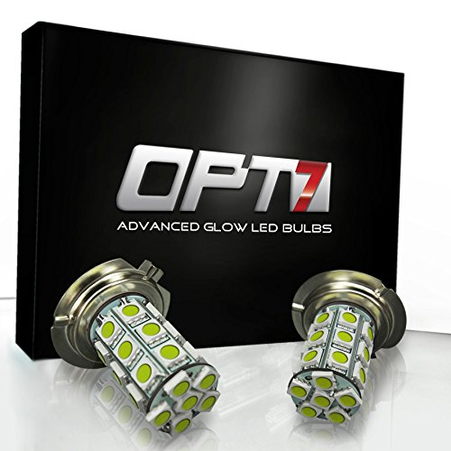 Opt7® H7 Advanced Glow 27-Smd Led Fog Light Bulbs - 10000K Deep Blue - Plug-N-Play (Pack Of 2)