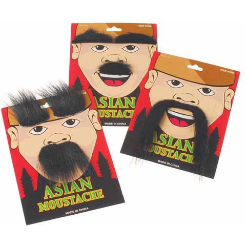 Asian Moustache Party Accessory - 1