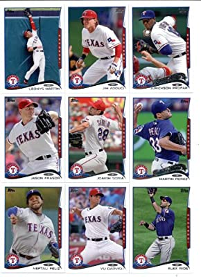 2011, 2012,2013 & 2014 Topps Texas Rangers Baseball Card Team Sets (Complete Series 1 & 2 From All Four Years )