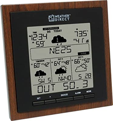 La Crosse Technology Weather Direct WD-3308U-WAL 4 Day Internet Powered Wireless Forecaster from Weather Direct