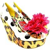Womens Iron Fist Lolita Love Leopard Wedge Heel Leopard