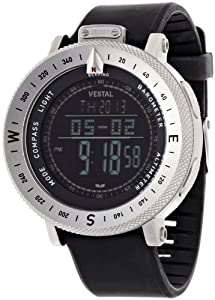 Vestal Men's GDEDP01 The Guide: Altimeter Barometer Compass Silver Black Watch