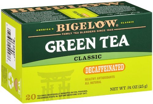 Bigelow Decaffeinated Green Tea, 20-Count Boxes (Pack Of 6) front-409118