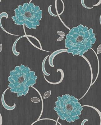 Florentina Floral Print Luxury Vinyl Wallpaper