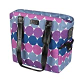 ZaZa Tote with 5 Piece Food Container, Purple/Blue