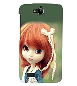 PrintDhaba Cute Doll D-1018 Back Case Cover for HUAWEI HONOR HOLLY (Multi-Coloured)