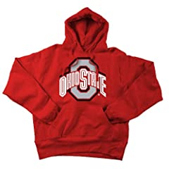 Ohio State Buckeyes Hooded Sweatshirt Icon Scarlet by Elite Fan Shop