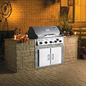 VCS522SSBIP 522 Signature Series Built-In 5 Burner BBQ Liquid Propane Grill 990 sq. in. Total Cooking Surface FlavorSeal System Rotisserie Burner & Kit Integrated Smoker Box: Stainless