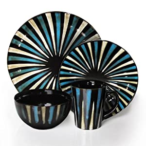 16 Piece Dinnerware Set in Blue & Blue Dinnerware Sets - The Shoppers Guide