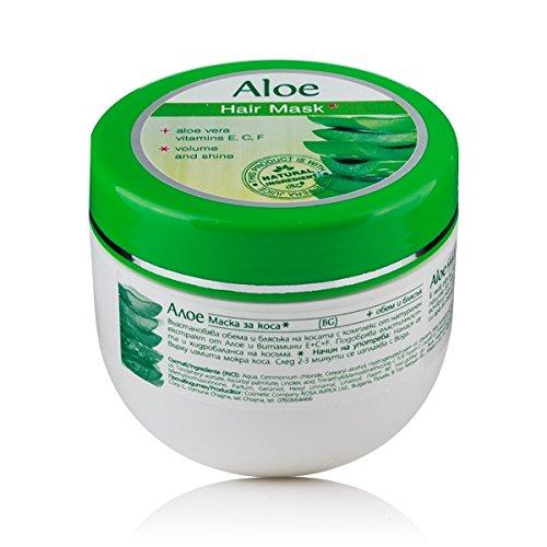 Maschera per i capelli, volume e luminosità, Aloe Vera.