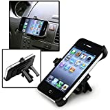 Insten® CAR AIR VENT MOUNT HOLDER CRADLE Compatible with Apple® iPhone® 4 4G iPhone® 4S - AT&T, Sprint, Verizon 16GB 32GB 64GB