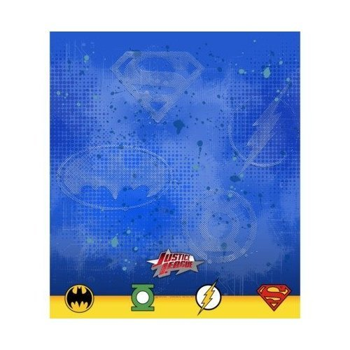 "Justice League Rescue 54'""x 96"" Plastic Tablecover"