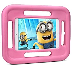 Cooper Cases(TM) Grabster Rugged & Tough Kids Play Case for Apple iPad Mini 2 / 3 in Blue (Shock-Absorbing, Drop-Proof Design; Lightweight, Child-Safe EVA Foam Rubber Material; 4-sided Handles; Included Screen Protector)