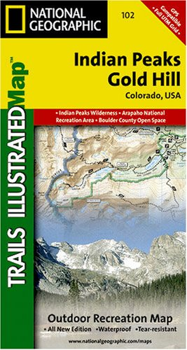 Trails Illustrated Indian Peaks Gold Hill