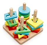 Lewo Colorful Creative Wooden Peg Puzzle Toys for Kids