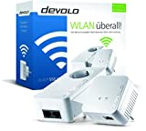 Devolo dLAN 550 WiFi Powerlan Adapter Starter Kit (500 Mbit/s, 2x Adapter im Set, 1x LAN Port, Powerline WLAN, WLAN Booster, Repeater, Verstärker, range+, WiFi Move, Kompaktgehäuse) weiß -
