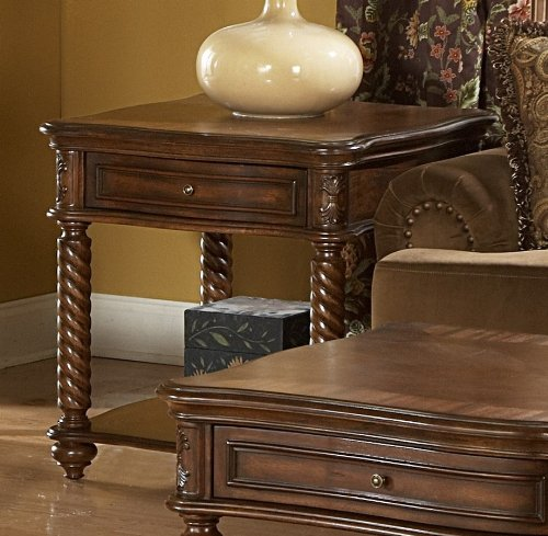 Cheap End Table with Working Drawer of Trammel Collection by Homelegance (5554-04)