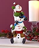 Holiday Silly Snowman Stacker Figurines