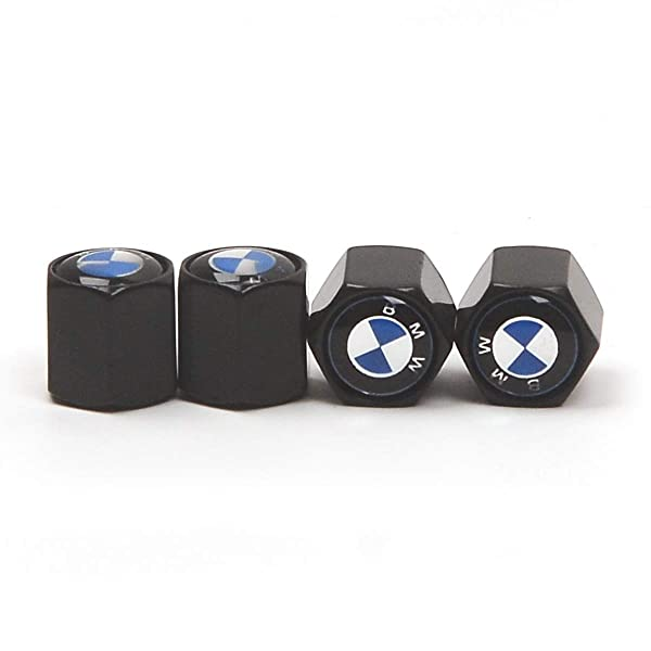 Truck Motorcycles 4 Pieces Car Tire Air Valve Caps- Auto Wheel Tyre Dust Stems Cover with Logo Emblem Waterproof Dust-Proof Universal fit for Cars SUV