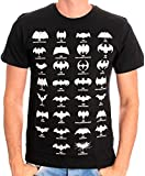 Batman Men's Batman All Logo Round Collar Short Sleeve T-Shirt