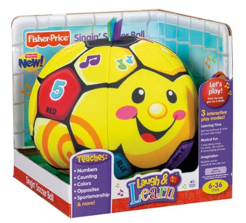 Fisher-Price Laugh & Learn Singin Soccer Ball - Walmart.com