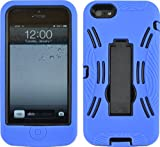 BLUE SHOCK PROOF ARMORED DEFENDER CASE/COVER WITH STAND FOR IPHONE 5