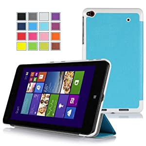 IVSO Slim Smart Cover Case for Lenovo ThinkPad 8 Windows 8.1 Tablet - will only fit Lenovo ThinkPad 8 Tablet (Blue)