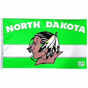 NCAA North Dakota Sioux Head Logo 3-By-5-Feet Flag by WinCraft