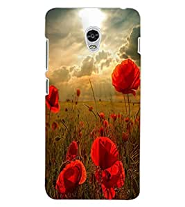 ColourCraft Beautiful SunRise Design Back Case Cover for LENOVO VIBE P1
