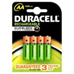 Duracell 1300mAh AA Size Rechargeable...