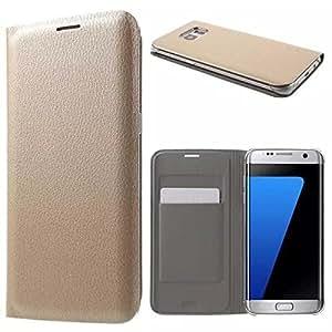ASCARI Original High Quality Pu Leather Flip Case For LAVA A82 GOLD