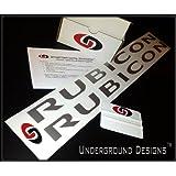 RUBICON Jeep Decals Hood Vinyl Stickers METALLIC SILVER ~ UNDERGROUND DECALS