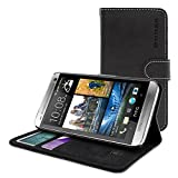 [USA & UK Best Seller] - Snugg HTC One (E8) Leather Flip Case - Flip Wallet Case & Lifetime Guarantee (Black Leather...