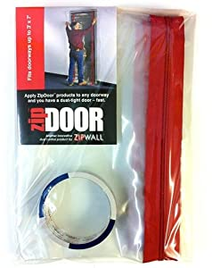ZIPWALL ZDS Zip Door Standard Doorway Dust Containment Kit by ZIPWALL