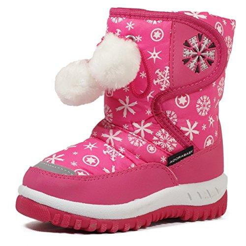 Lj-Adorababy Girl'S Winter Snow Boots,Lj Girl Kb506 Fuchsia 9