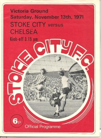 Stoke City v Chelsea official programme 13/11/1971