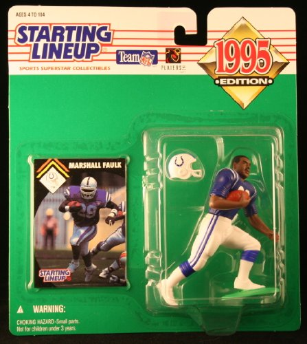 MARSHALL FAULK / INDIANAPOLIS COLTS 1995 NFL Starting Lineup Action Figure & Exclusive NFL Collector Trading Card - 1