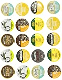 Crazy Cups Rise and Shine Caffeine Only Single-cup coffee sampler for Keurig K-Cup Brewers, 20 Count