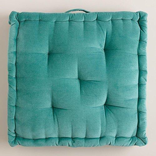 Aqua Velvet Floor Cushion – World Market