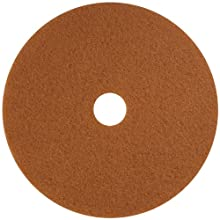 "Glit 13324 TK Polyester Blend Tan Buff Polishing Floor Pad, Synthetic Blend Resin, Talc Grit, 24"" Diameter, 175 to 350 rpm (Case of 5)"