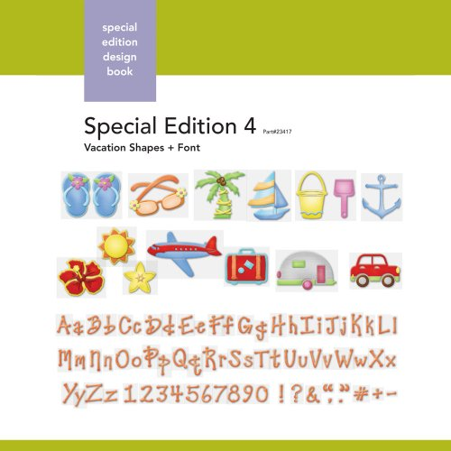 Xyron Vacation-Shapes-and-Font Special-Edition Design Book for Xyron Personal Cutting System