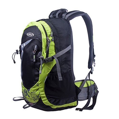 5fd0497a66 G4Free 40L Hiking Backpack Water Repellent Backpacker Camping Climbing  Backpack with Rain Cover(Light Green